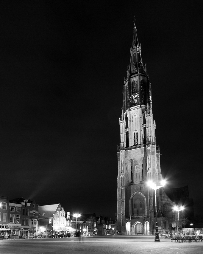 Delft at night